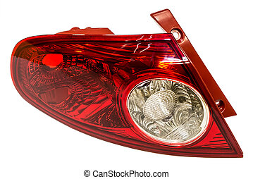 tail light - Back lantern of the car on a white background