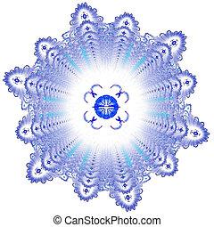 Abstract elegance background. Blue - white palette. Raster...