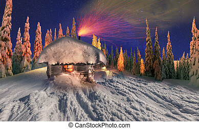 Christmas house - In the high mountains, among the wild...