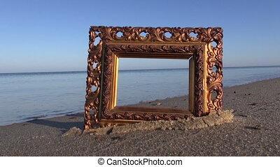 ancient ornate picture frame beach - beautiful ancient...