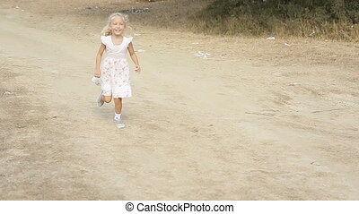 Little girl running to her mom and mom circling her in slow motion