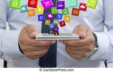 Using a mobile phone with Applications - Using a mobile...