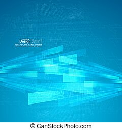 Abstract vector background with glowing grid, stripes,...