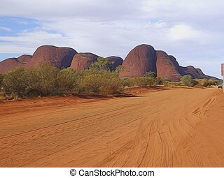 the olgas from the road