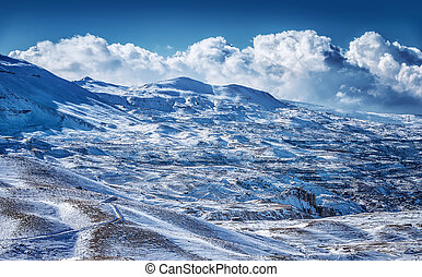vacker,  Mountains, Vinter