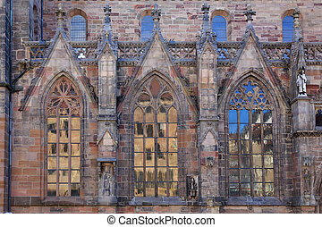 Windows in Saint Sebaldus church of Nuremberg, Germany