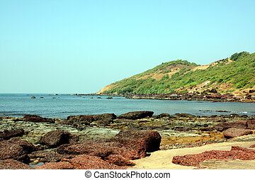 Goa Beach - A background with a view of the beautiful...