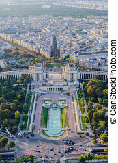 Trocadero - Aerial view of Trocadero as seen from The Eiffel...