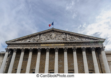 National assembly Paris - National assembly facade in the...