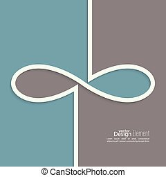 Abstract background with the sign of infinity. emblem...