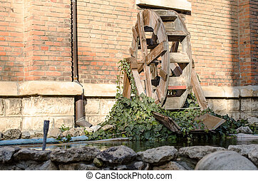 Water mill - Wooden wheel of an old water mill