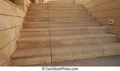 Stone steps on the territory of the Egyptian hotel