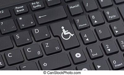 disabled button on the keyboard