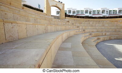 Beautiful amphitheater on the territory of the hotel