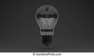 Electric Bulb 3D render Animation