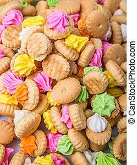 barriga, botão, iced, Pedra preciosa, biscoitos,