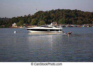 Beautiful Boat - A beautiful boat anchored in the middle of...