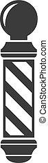 barber shop pole sign vintage symbol icon hipster
