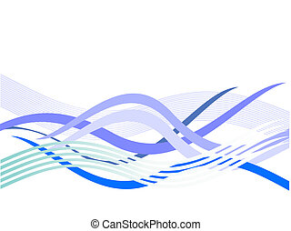 blue waves - vector illustration of an abstract background