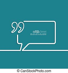 Quotation Mark Speech Bubble and Chat symbol Outline