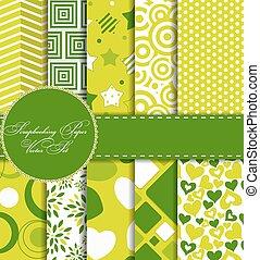 Set of Beautiful Vector Paper for Scrapbook EPS10