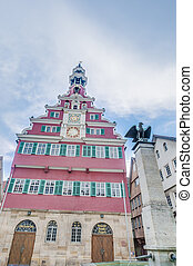 Old Town Hall in Esslingen Am Nechar, Germany - Old Town...