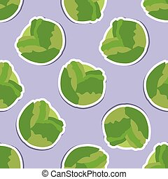 cabbage pattern Seamless texture with ripe cabbage Use as a...