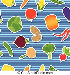 vegetable seamless pattern. The image of vegetables -...