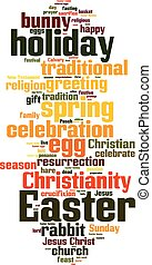 Easter word cloud concept. Vector illustration