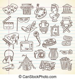 Culture and Art - Freehand drawing Culture and Art items on...