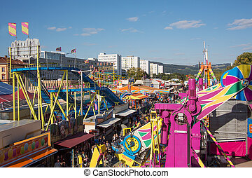 urfahraner fair in linz, austria - the urharaner fair -...