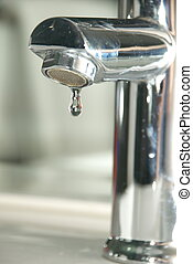 faucet with water drop