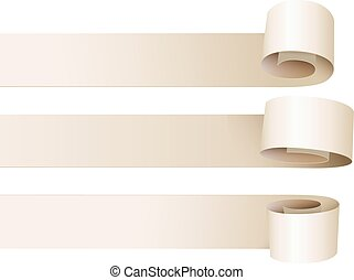 White paper curl. Vector illustration. Isolated on white...