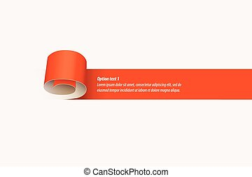Curl of red paper. Vector illustration can be used for...