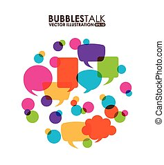 bubbles talk design, vector illustration eps10 graphic