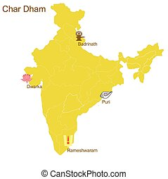 Char Dham, four most important Hindu pilgrimage places -...