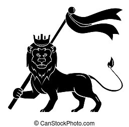 Black Silhouette Of Lion