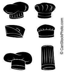 Black Silhouette Collection Of Chef