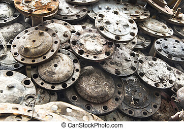 Rust metallic car parts - Pile of rust metallic car parts...