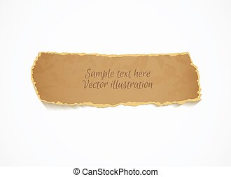 Torn piece of paper, ready for your message Top view Vector...