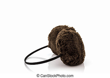 Brown fuzzy winter ear muff - Brown fuzzy winter ear muff on...