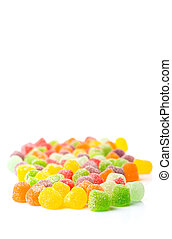 Sugar Jelly Candy - Colorful mix sugar jelly candy over...