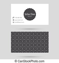 Trendy business card template with vintage label and elegant...