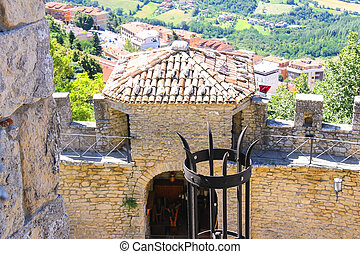 Ancient lantern in the fortress of San Marino