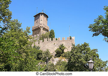 Fortress Guaita on Mount Titan. The Republic of San Marino