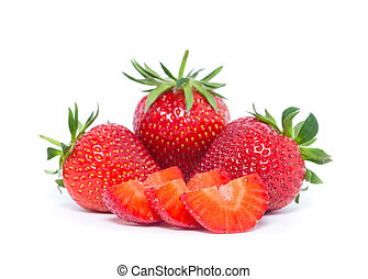 strawberry - The strawberry isolated over white