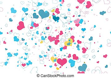 Retro valentine seamless pattern with hearts.