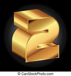 Golden 2 vector 3d