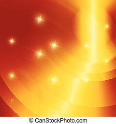 Glowing star orange background