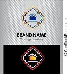 House Real Estate icon logo